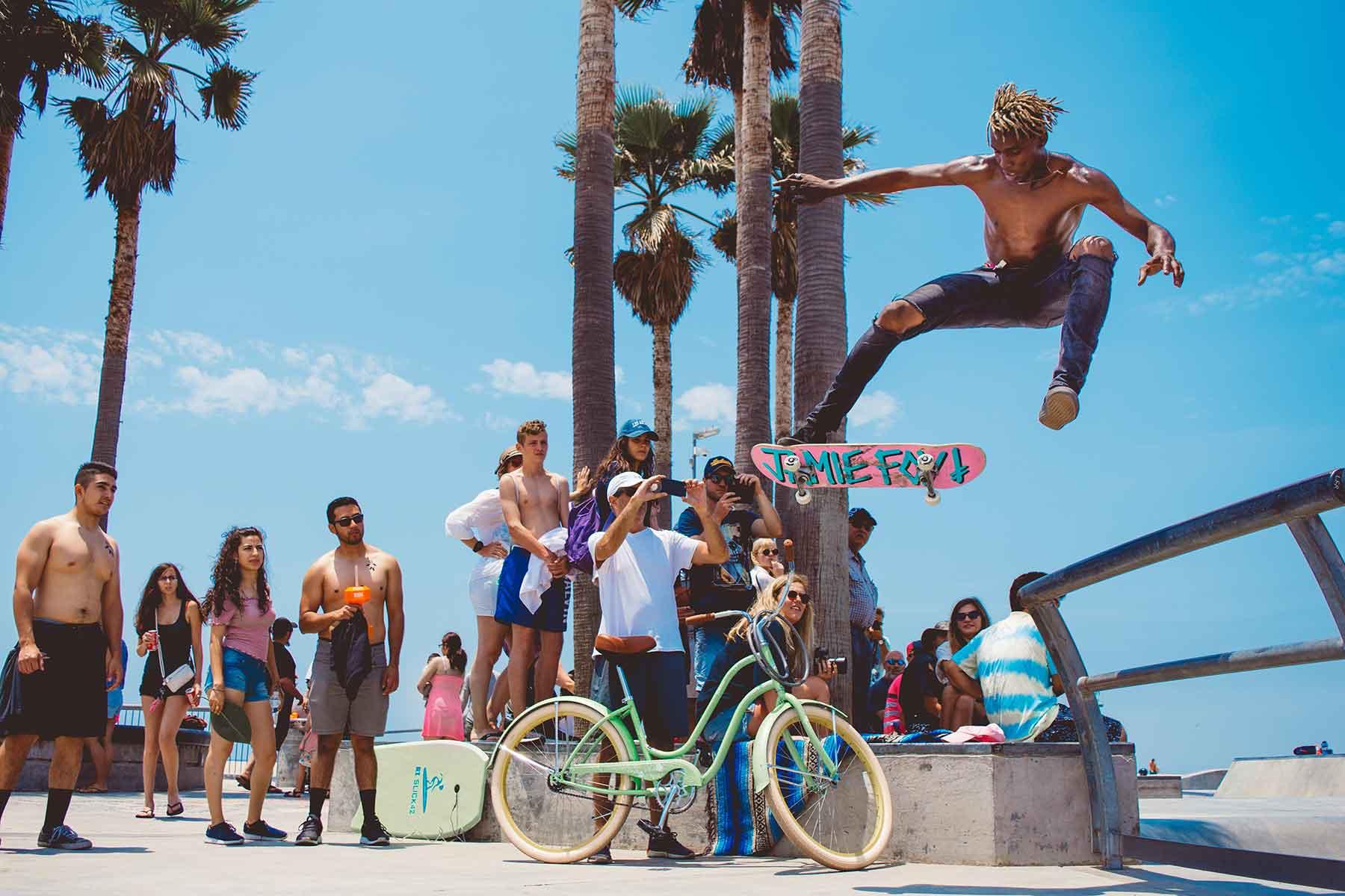 Resor-till-Kalifornien-med-Nygren-&-Lind-Resebyrå---venice-beach-skater2