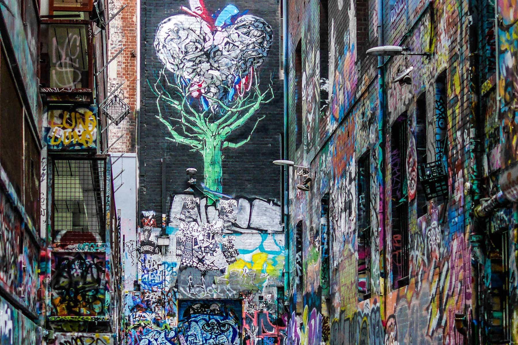Resor-till-Melbourne-Nygren-Lind-Resebyrå---grafitti-gata