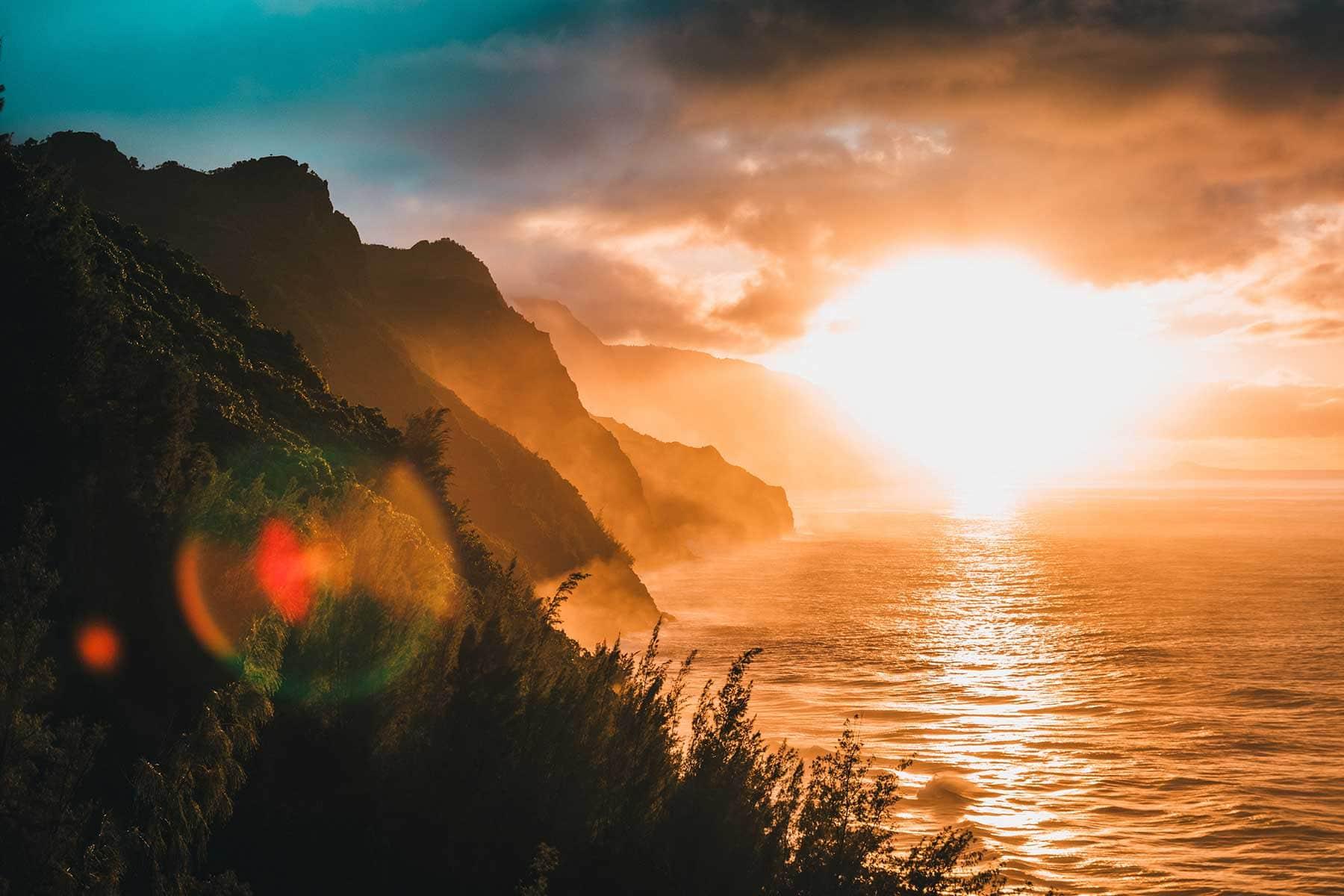 Skräddarsydda-resor-till-Hawaii-hos-Nygren-&-Lind-resebyrå---solnedgång